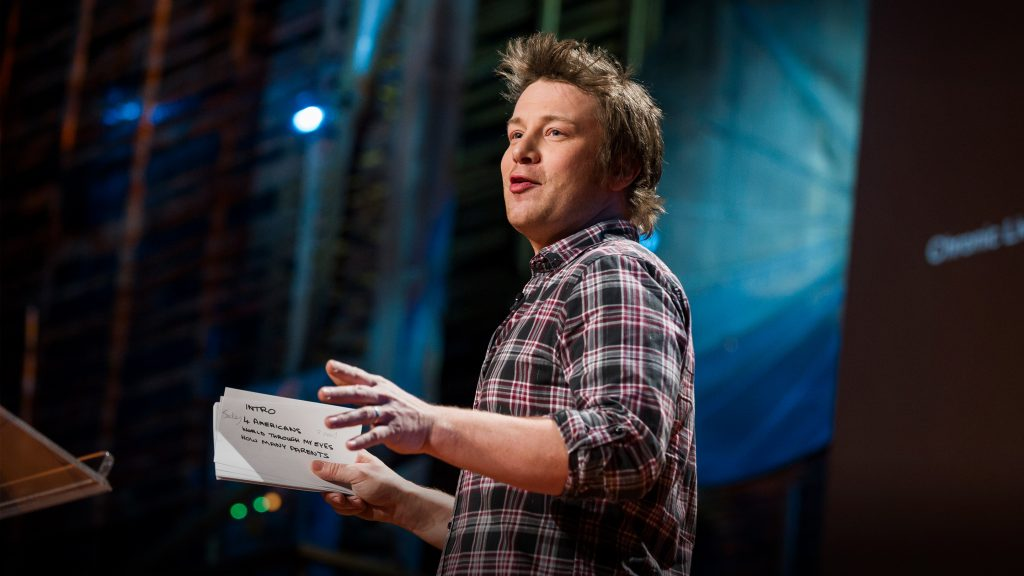 jamie Oliver's ted talk: great example of a speech outline for last minute presentations