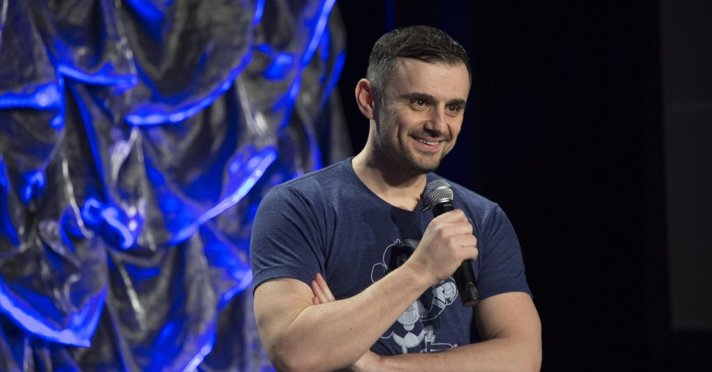 Gary Vaynerchuck addressing one of his audience members in a 2019 keynote speech.