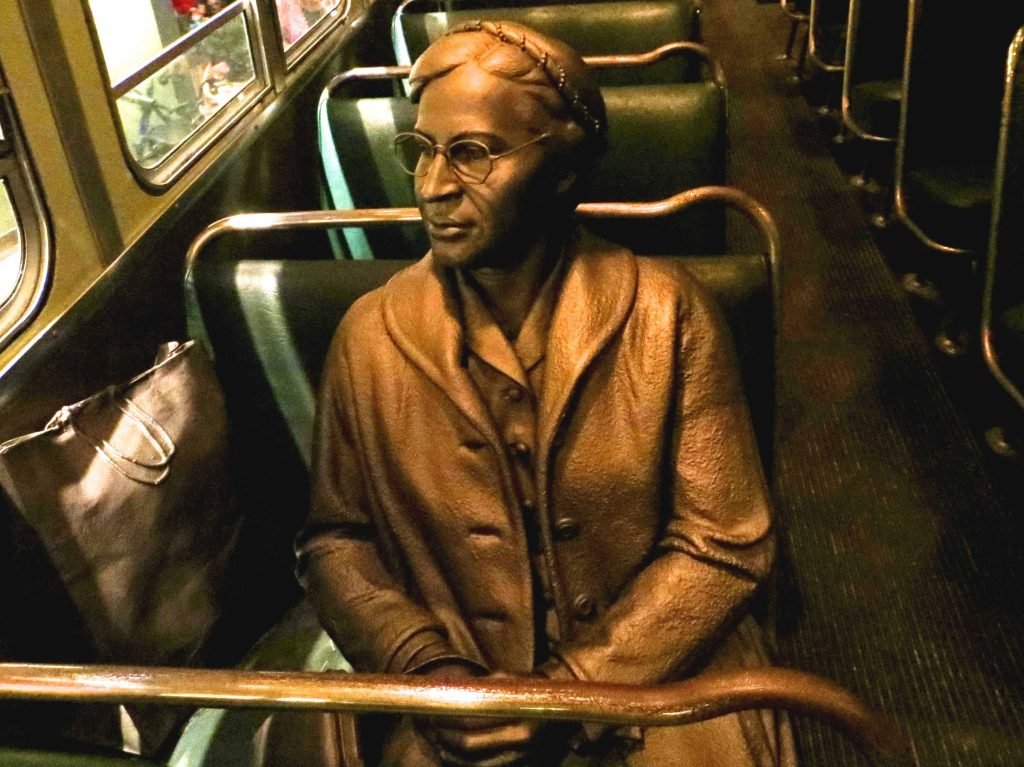 rosa parks was an introvert who became a great speaker and leader