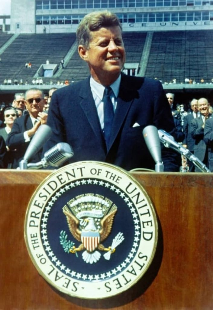 John F. Kennedy's inaugural speech  used poetic devices to create a lasting impact.