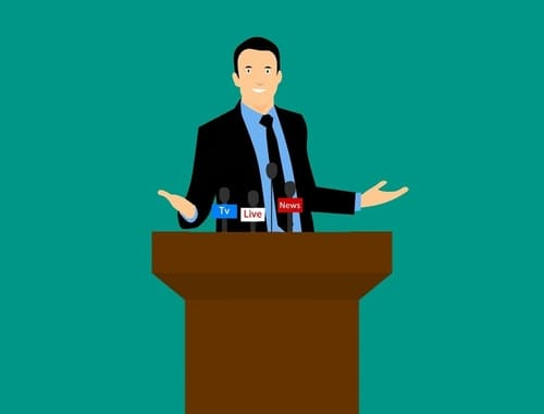 Effective use of hands for effective speaking