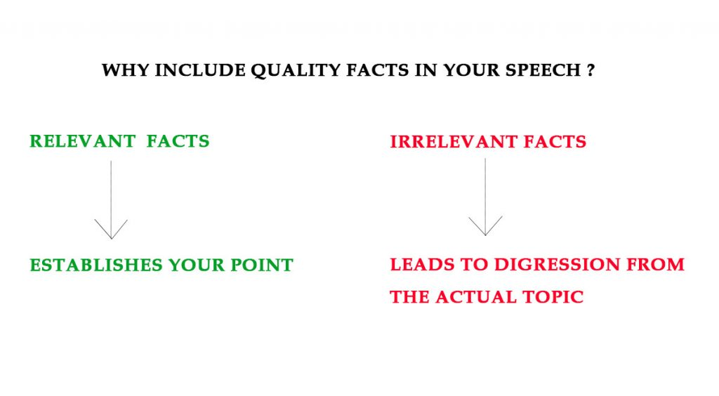 Difference between relevant and irrelevant facts