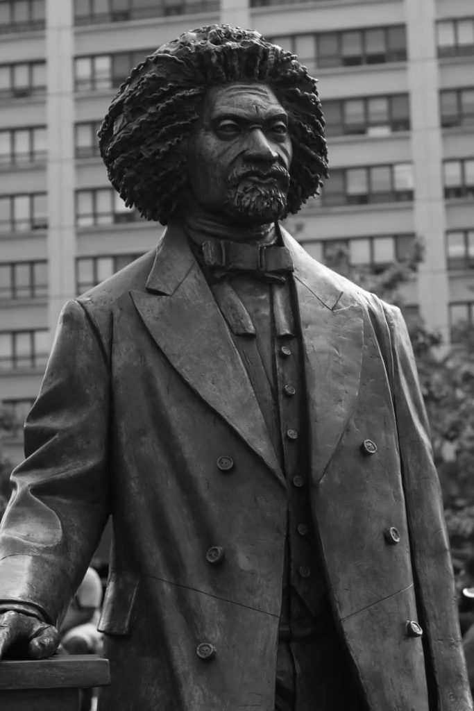 Rhetorical devices used by Frederick Douglass.