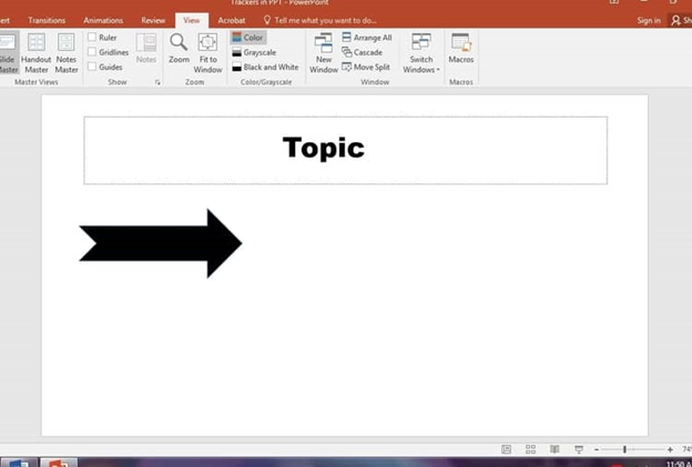Step 4 is applying that shape to your presentation.