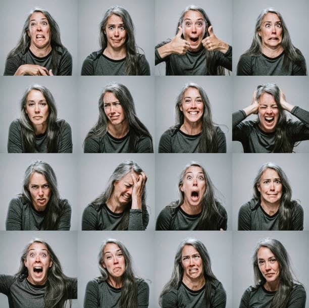 various types of emotions