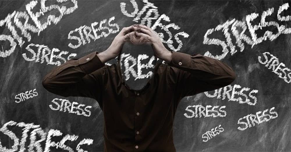 Picture depiction of stress and how we can deal with it.