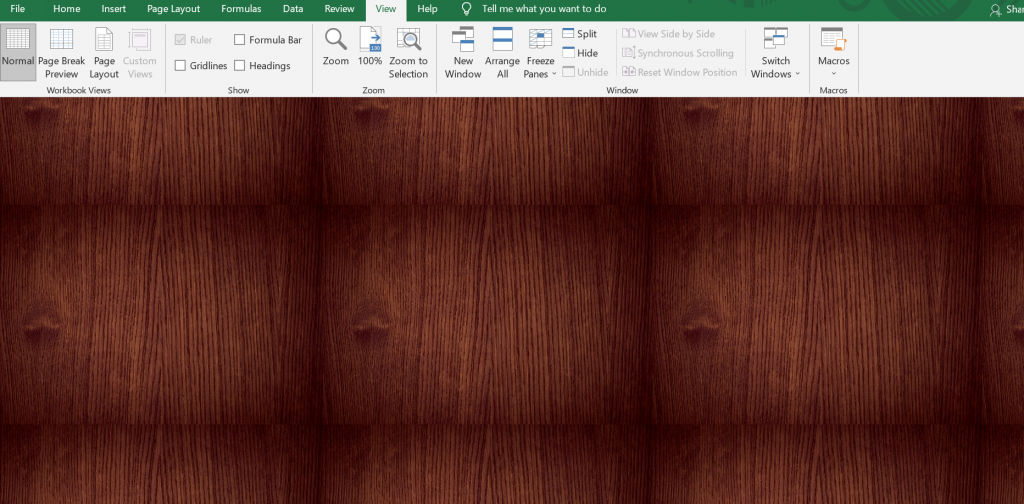 stick to plain backgrounds for excel presentations