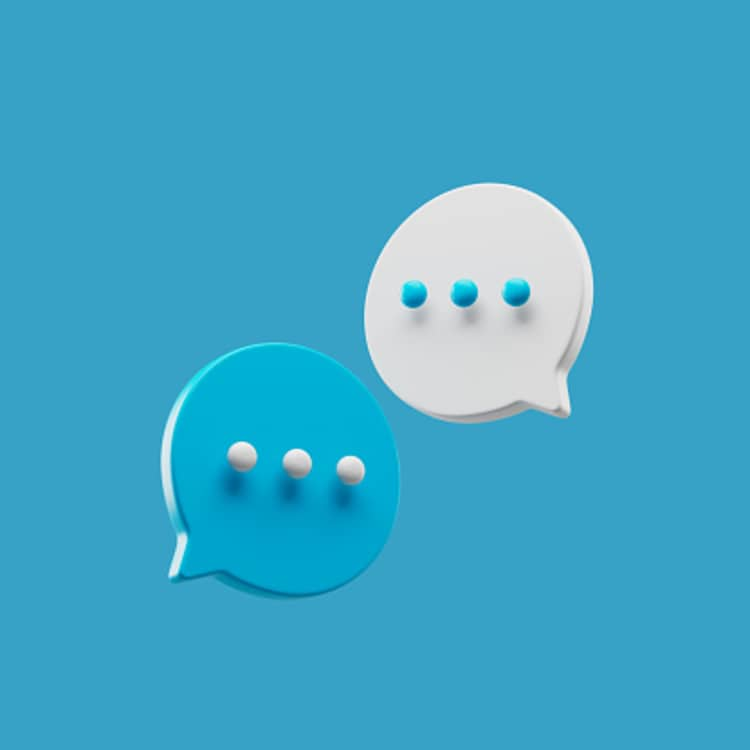 Message icons showing three dots which indicate simplicity in speaking.